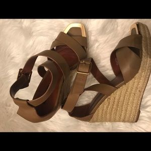 Charles David strappy wedges